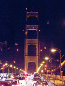 Finally at the Golden Gate!  Yep, I was on a bus for this part of the journey.
